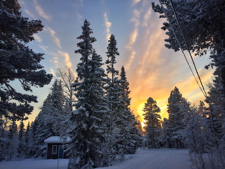 snö storhogna vemdalen vinter morgon