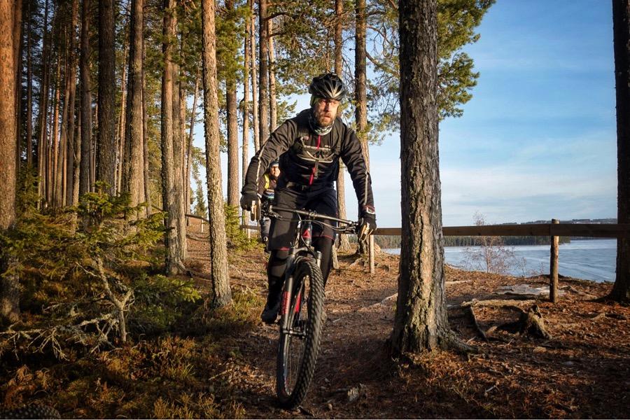 Mountainbike på Andersön